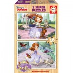 Educa-16369 2 Wooden Jigsaw Puzzles - Sofia the First