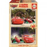 Educa-16372 Wooden Jigsaw Puzzle - Cars
