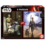 Educa-16523 2 Jigsaw Puzzles - Star Wars