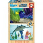 Educa-16694 2 Wooden Jigsaw Puzzles - Finding Dory