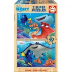 Educa-16695 2 Wooden Jigsaw Puzzles - Finding Dory