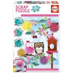 Educa-16739 Scrap Puzzle - Valentine Art