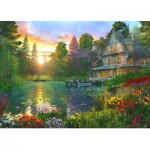 Puzzle  Educa-16746 XXL Pieces - Fishing At Sunset