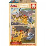 Educa-16795 2 Wooden Jigsaw Puzzles - The Lion Guard