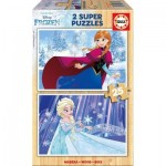Educa-16801 2 Wooden Jigsaw Puzzles - Frozen