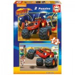 Educa-16820 2 Jjigsaw Puzzles - Blaze and The Monster Machines