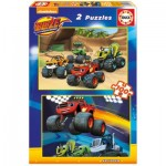 Educa-16822 2 Jigsaw Puzzles - Blaze and The Monster Machines