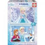 Educa-16847 2 Jigsaw Puzzles - Frozen