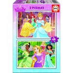 Educa-16851 2 Jigsaw Puzzles - Disney Princess