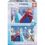 Educa-16852 2 Jigsaw Puzzles - Frozen