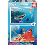 Educa-16878 2 Jigsaw Puzzles - Finding Dory