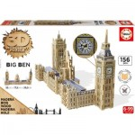 Educa-16971 3D Wooden Jigsaw Puzzle - Big Ben & Parliament