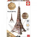 Educa-16998 3D Wooden Jigsaw Puzzle - Eiffel Tower