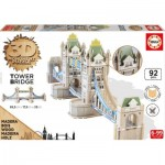 Educa-16999 3D Wooden Jigsaw Puzzle - Tower Bridge