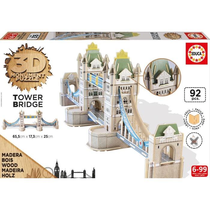 3D Wooden Jigsaw Puzzle - Tower Bridge
