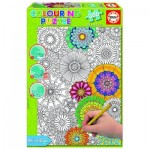 Educa-17090 Colouring Puzzle - Beautiful Blossoms