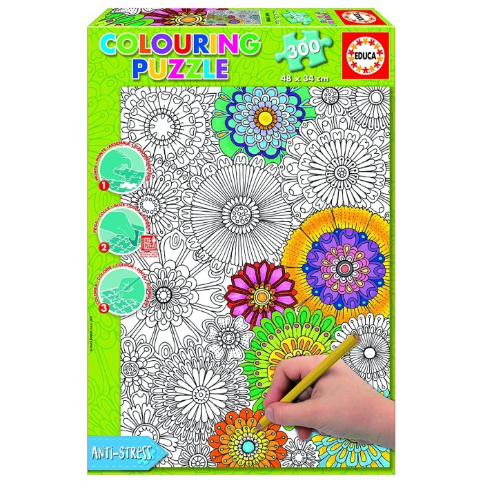 Colouring Puzzle - Beautiful Blossoms