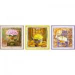 Educa-17095 3 Jigsaw Puzzles - Enchanted Moments, Gail Marie