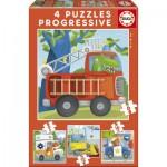 Educa-17144 4 Jigsaw Puzzles - Rescue Patrol
