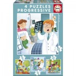 Educa-17146 4 Jigsaw Puzzles - I want to Be
