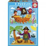 Educa-17149 2 Jigsaw Puzzles - Pirates