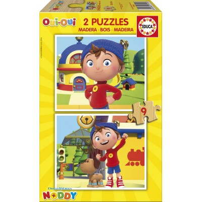 Educa-17159 2 Wooden Jigsaw Puzzles - Noddy