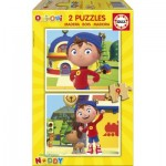 Educa-17159 2 Wooden Jigsaw Puzzles - Noddy