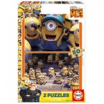 Educa-17232 2 Wooden Jigsaw Puzzles - Minions