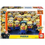 Educa-17233 Wooden Jigsaw Puzzle - Minions