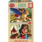 Educa-17237 2 Wooden Jigsaw Puzzles - Elena d'Avalor