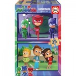 Educa-17448 2 Wooden Puzzles - PJ Masks