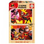 Educa-17626 Wooden Puzzle - Incredibles 2
