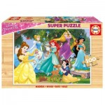 Educa-17628 Wooden Puzzle - Disney Princess
