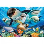 Puzzle  Educa-17647 Selfie under Water