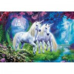 Puzzle  Educa-17648 Unicorns in the Forest