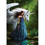Puzzle  Educa-17652 Anne Stokes - Magic Pond