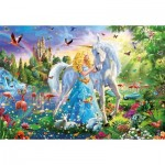 Puzzle  Educa-17654 The princess and the Unicorn