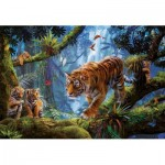 Puzzle  Educa-17662 Tiger On The Tree