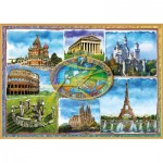 Puzzle  Educa-17667 Seven Wonders of Europe