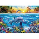 Puzzle  Educa-17672 Family of Dolphins