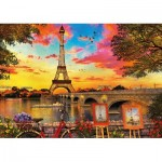 Puzzle  Educa-17675 Sunset at Paris