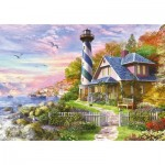 Puzzle  Educa-17677 Lighthouse at Rock Bay