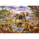 Puzzle  Educa-17698 Watering Hole under the Rainbow