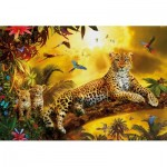 Puzzle  Educa-17736 Leopards