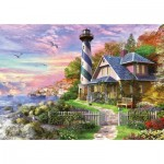 Puzzle  Educa-17740 Lighthouse at Rock Bay