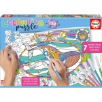Educa-17827 Colouring Puzzles - Marine Animals
