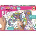 Educa-17828 Colouring Puzzles - Unicorn