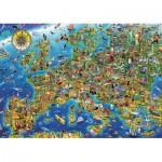 Puzzle  Educa-17962 Crazy Europe map