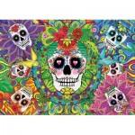 Educa-17975 Neon Puzzle - Skulls