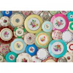 Puzzle  Educa-17982 XXL Pieces - Collage With Dishes